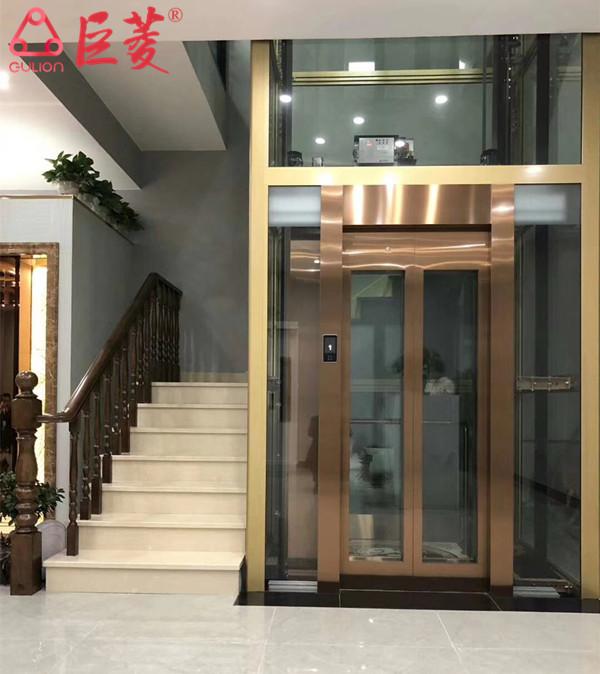 Gulion巨菱私家别墅电梯安装尺寸和内部安全装置